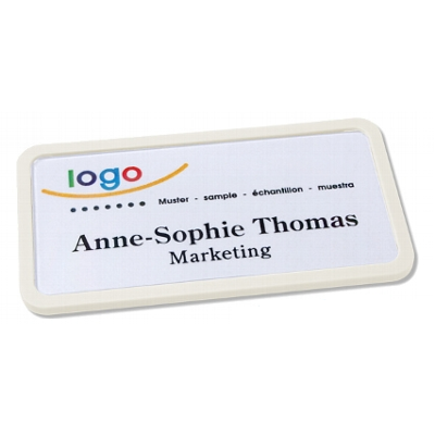 Office 40 classic naambadge wit