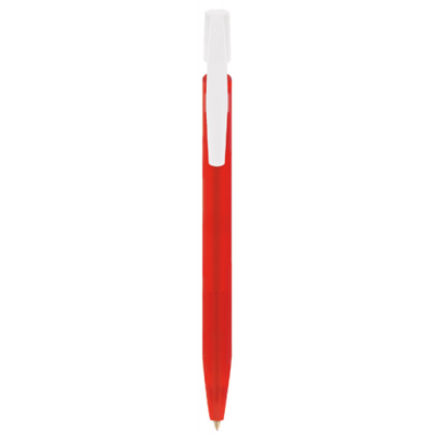 BIC Media Clic balpen Frosted rood
