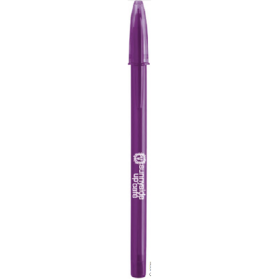 BIC style transparant paars