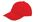 Brushed twill cap rood/wit