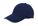 Brushed twill cap navy/wit
