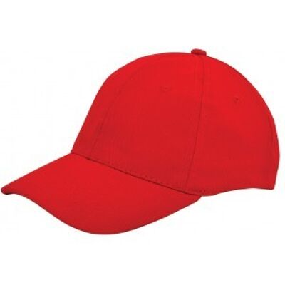 Brushed twill cap rood