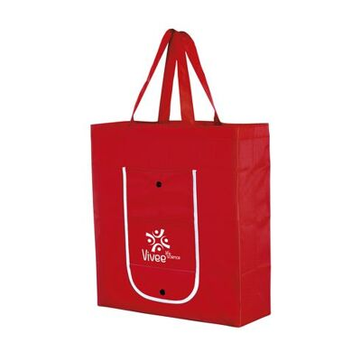 Polyester opvouwbare tas rood