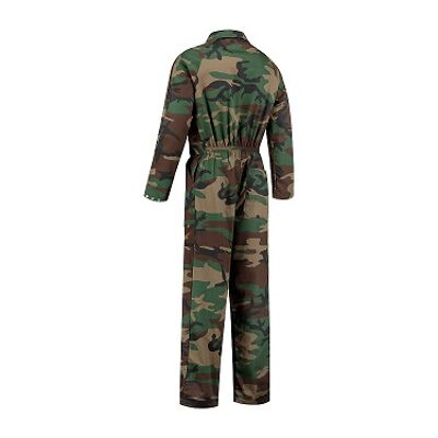 Camouflage kinderoverall achterkant