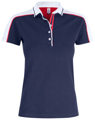 Classic pittsford dames polo navy/wit