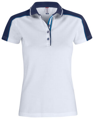 Classic pittsford dames polo wit/navy