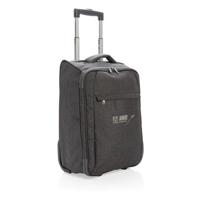 Duo tone opvouwbare trolley   Polyester   23 x 34 x 50 cm